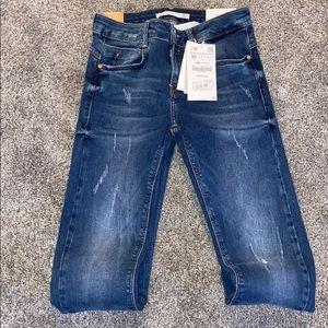 Zara Skinny Distressed Jeans - size 34 (2)